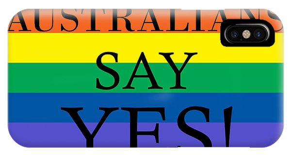 Gay Pride Flag iPhone Case - Australians Say Yes by Snowflake Obsidian