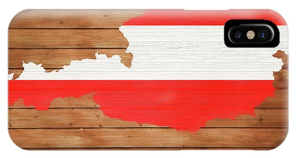 Traveler iPhone Case - Austria Rustic Map On Wood by Dan Sproul
