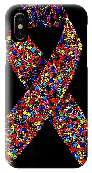 Autism Awareness Ribbon  IPhone Case