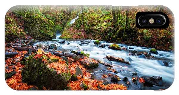Autumn Along Bridal Veil IPhone Case