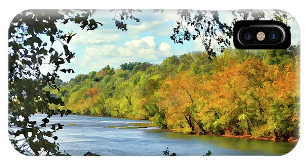 Autumn Along The New River - Bisset Park - Radford Virginia IPhone Case
