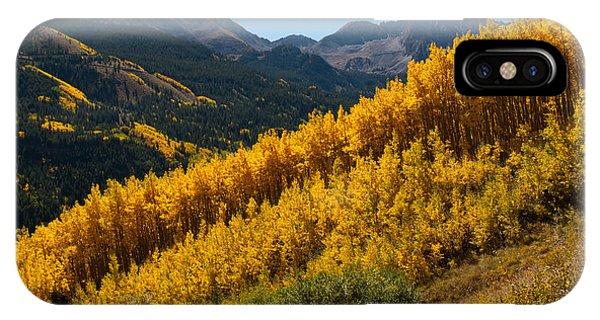 Autumn Aspen Near Castle Creek IPhone Case