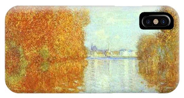 iPhone Case - Autumn At Argenteuil Claude Oscar Monet by Eloisa Mannion