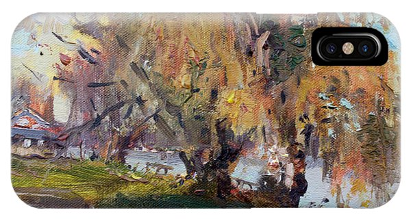 Lake iPhone Case - Autumn At Chautauqua Lake  by Ylli Haruni
