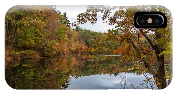 Autumn At Hillside Pond IPhone Case