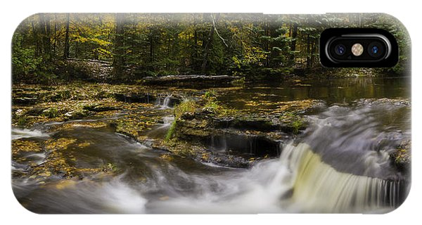 IPhone Case featuring the photograph Autumn At Laughing Whitefish Falls by Owen Weber
