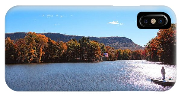 IPhone Case featuring the photograph Autumn At Nashawannuck Pond by Sven Kielhorn
