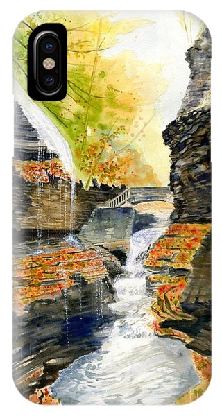 Fairy Glen iPhone Case - Autumn At Rainbow Falls  by Melly Terpening