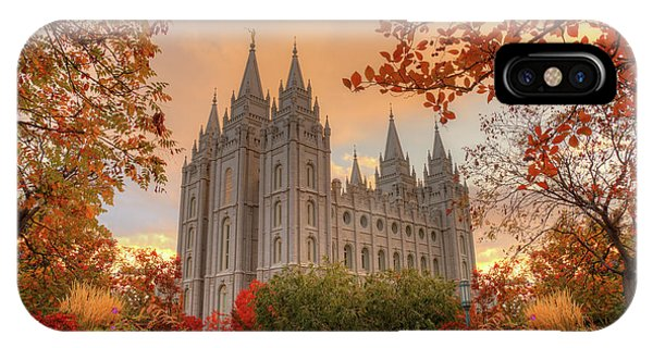 Autumn At Temple Square IPhone Case