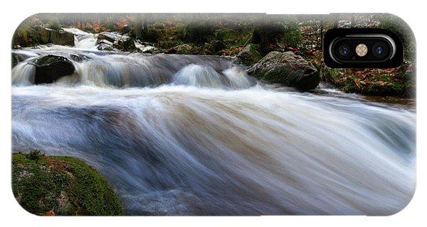IPhone Case featuring the photograph Autumn At The Bode, Harz by Andreas Levi