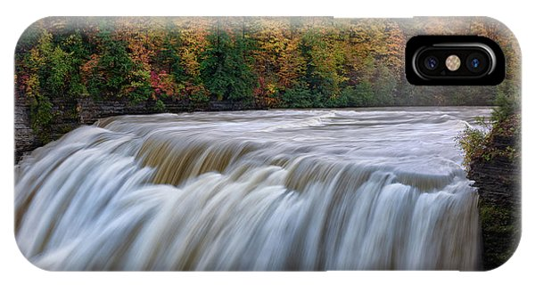 Trestle iPhone Case - Autumn At The Middle Falls  by Rick Berk