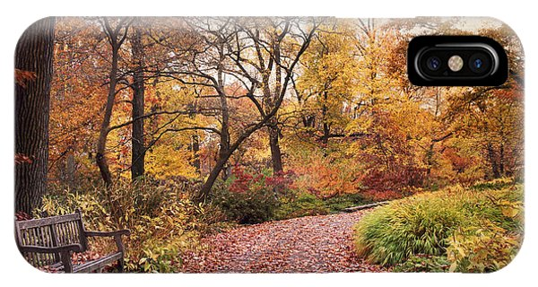 Autumn Azalea Garden IPhone Case