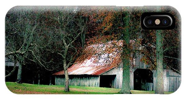 Autumn Barn In Alabama IPhone Case