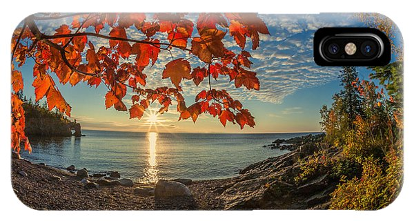 Autumn Bay Near Shovel Point IPhone Case