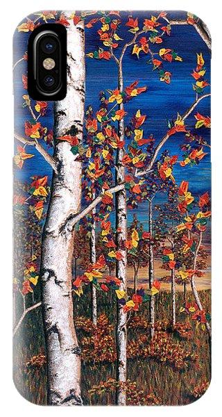 Autumn Birch Forest IPhone Case