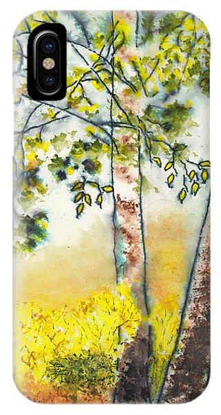 Autumn Birch Trees IPhone Case