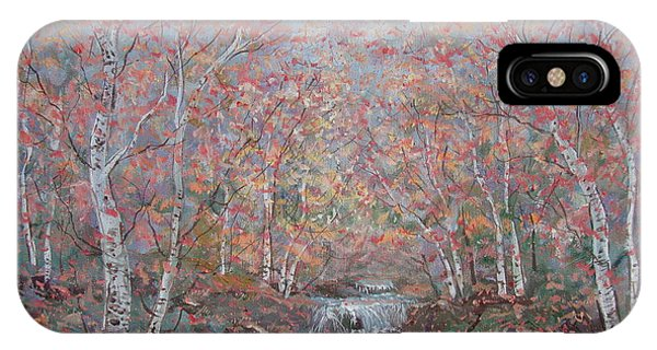 Autumn Birch Trees. IPhone Case