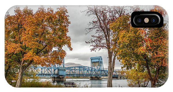 Autumn Blue Bridge IPhone Case