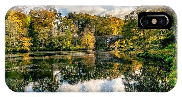 Fairy Glen iPhone Case - Autumn Bridge by Adrian Evans