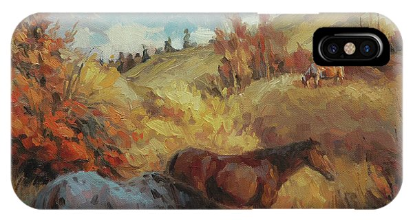 Bucolic iPhone Case - Autumn Browsing by Steve Henderson