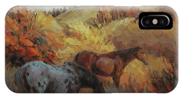 Trio iPhone Case - Autumn Browsing by Steve Henderson