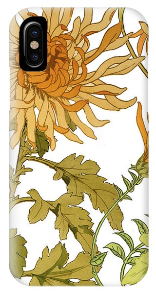 Fall iPhone Case - Autumn Chrysanthemums I by Mindy Sommers