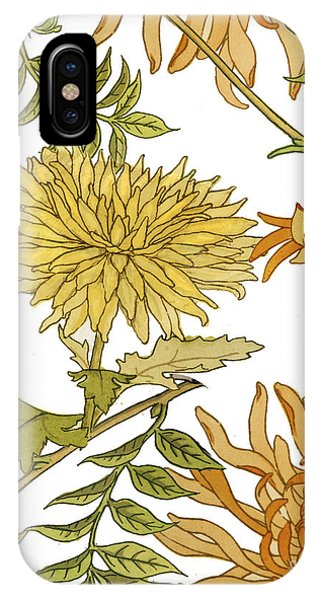 Autumn iPhone X Case - Autumn Chrysanthemums II by Mindy Sommers