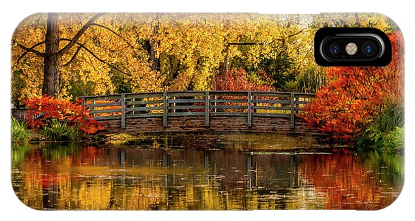 Autumn Color By The Pond IPhone Case