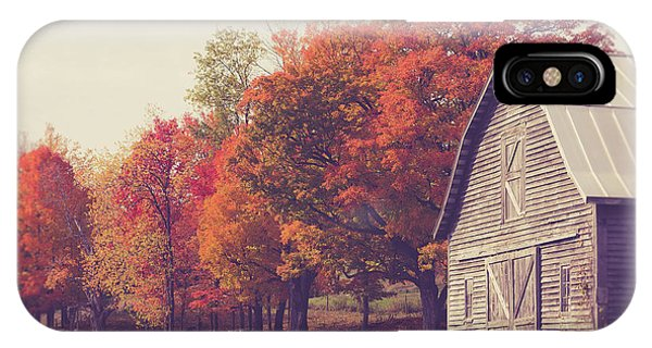 New England Fall Foliage iPhone Case - Autumn Color On The Old Farm by Edward Fielding