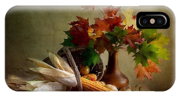 Basket iPhone Case - Autumn Colors by Nailia Schwarz