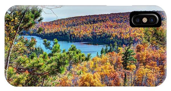 Superior iPhone Case - Autumn Colors Overlooking Lax Lake Tettegouche State Park II by Wayne Moran