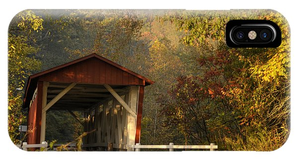 Autumn Covered Bridge IPhone Case