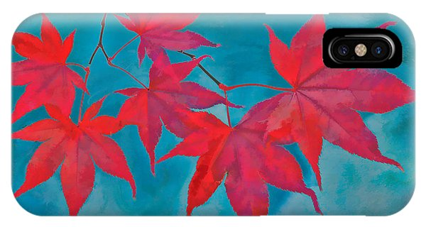 Autumn Crimson IPhone Case
