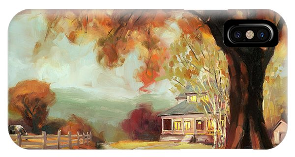 Porch iPhone Case - Autumn Dreams by Steve Henderson