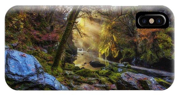 Fairy Glen iPhone Case - Autumn Fairy Glen by Ian Mitchell