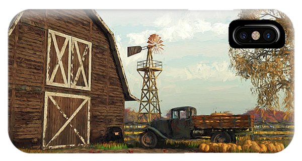 Autumn Farm Scene IPhone Case