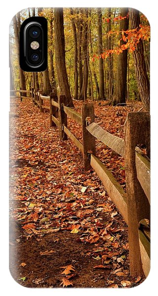 IPhone Case featuring the photograph Autumn Fence by Angie Tirado