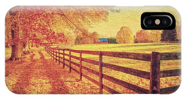 Autumn Fences IPhone Case