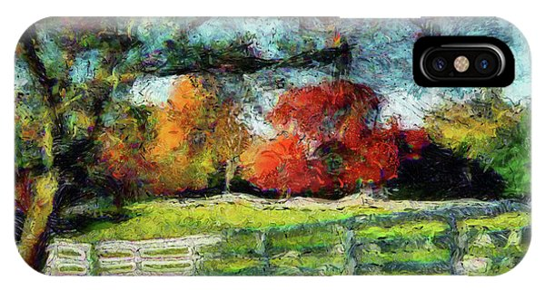 Autumn Field On The Farm IPhone Case