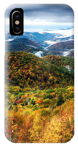 Autumn Foliage On Blue Ridge Parkway Near Maggie Valley North Ca IPhone Case