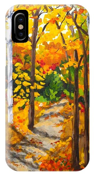 Autumn Forest Trail IPhone Case
