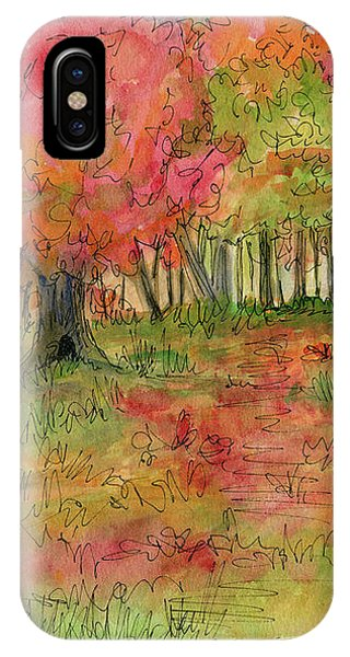 Autumn Forest Watercolor Illustration IPhone Case