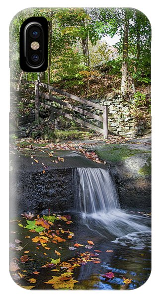 IPhone Case featuring the photograph Autumn Glen Olmsted Falls by Lon Dittrick