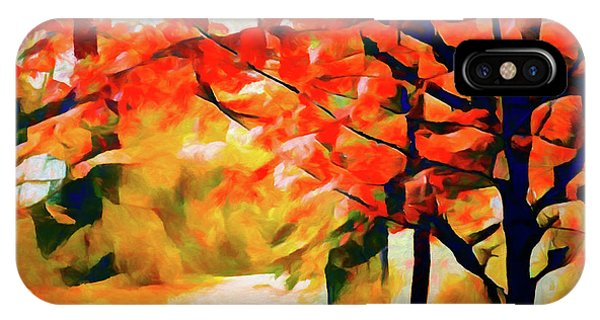 Glorious Foliage On The Rail Trail - Abstract IPhone Case