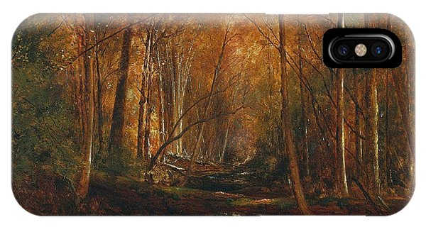 Jervis iPhone Case - Autumn In The Catskills by Jervis McEntee