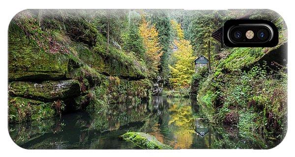 Autumn In The Kamnitz Gorge IPhone Case