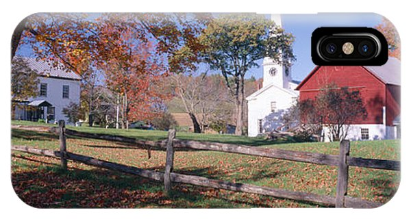 New England Barn iPhone Case - Autumn In Village Of Peacham, Vermont by Panoramic Images