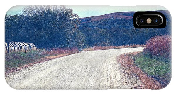 IPhone Case featuring the photograph Autumn Kansas Countryside Road by Anna Louise