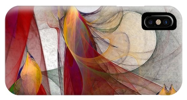 Abstract Expression iPhone Case - Autumn by Karin Kuhlmann