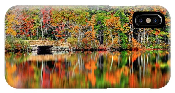 Autumn Lake Chocorua IPhone Case